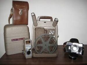 8mm Movie Camera and Projector