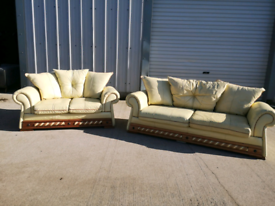 Traditional Leather 3+2 seater sofas couches suite 🚚🚚