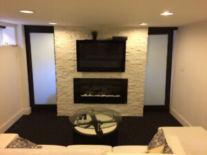 Bright high ceiling fully furnished 1 bedroom basement unit!