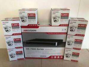 HIKVISION DS-7608NI-I2/8P 4K NVR and 4M 6M 8M Dome Cameras for sa
