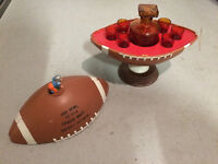 Rare Vintage Pro Football Whickey Decanter Set