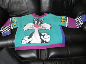 Looney Toons(Loonie Tunes)Handknit Sweater-one of a kind!REDUCED Peterborough Peterborough Area image 1