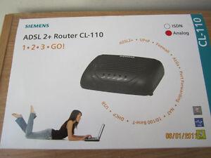 New Siemens CL-110 ADSL2+ DSL modem for ADSL providers