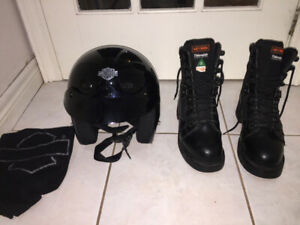Harley Davidson Motorcycle Helmet & Steel Toe Boots $Reduced$