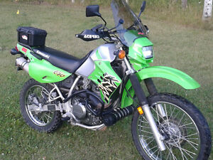 2002 Kawasaki KLR 650 c on off road bike