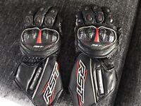 RST motorcycle/ motorbike gloves