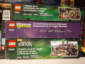 LEGO Teenage Mutant Ninja Turtles sets. 79115, 79104, 79116