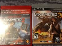 Unchartered 2 or 3   $6.00 each