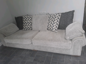 Large 4 seater sofa and footstool