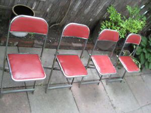 Four Vintage Mid-Century Cooey Bridge Chairs -- Made in Canada!