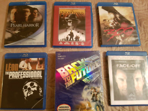 21 blu ray and 19 DVD movie collection