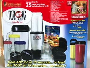MAGIC BULLET DELUXE 23 PIECES *WITHOUT POWER BASE & CROSS BLADE