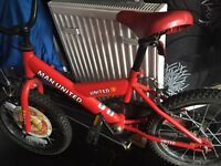 Kids Manchester United bike.. Used but in great condition.
