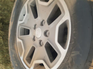 5 BFG Mud Terrain Tires with Jeep Rims