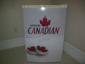 CANADIAN MOLSON BEER FRIDGE WITH FREEZER COMPARTMENT