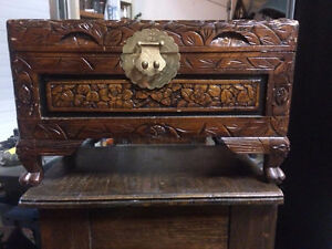 Decorative Carved Wooden Box