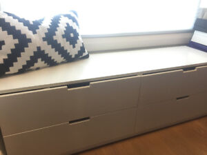IKEA Nordli White 4 Drawer Dresser - Great Condition, Asking 180