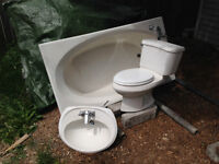 Free Bath, Toilet and Sink + Filing Cabinets
