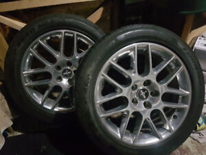 """7 Ford Mustang rims and tires 18"""""""