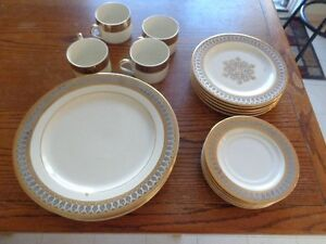 san Marco Gold Toned Borner  Made in Indonesia Dish Set