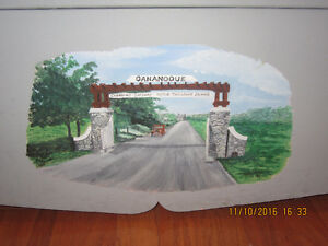 Decon's Bench Hall Bench Hand Painted Scenes of Gananoque Kingston Kingston Area image 4