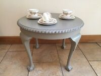 Light Grey Shabby Chic Side Table