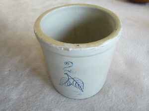 Antique Red Wing 2 Gallon Pickle Crock / Stoneware