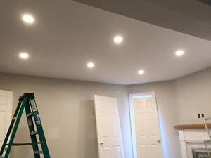 POT LIGHTS INSTALLATION $55 - licensed electrician *High quality Kitchener / Waterloo Kitchener Area image 2
