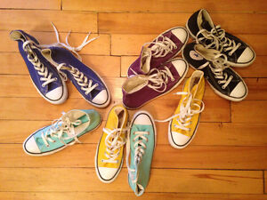 Converse Hi-Tops Women's 6.5, 7 - 4 Colours, Hardly Worn!