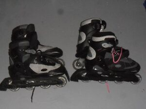 "2 pair of kids ""Hyper"" roller blades"