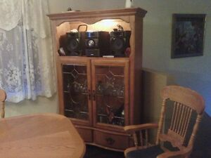 set de cuisine 4 chaises vaisselier en chêne