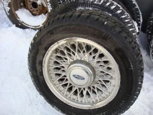 "4-215 60 r15 studded snow tires on 5x114.3mm (4.5"")"