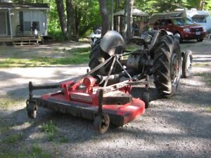 Tractor mower and snow blower