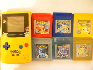 All 6 Pokemon games and Gameboy Color