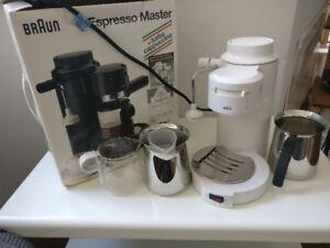 Classic Braun Espresso Master + Cappuccino Machine