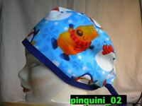 Surgical Cap Hat Scrub - Cuffia Chirurgica - Pinguini_02 -  - ebay.it