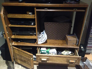 Entertainment center and 26 inch JVC TV