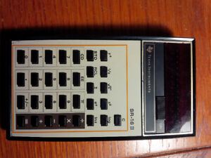 vintage texas instruments sr-16 calculator vintage