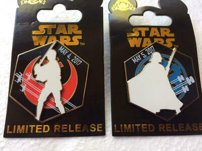 Disney Parks  STAR WARS   May 4th and 5th    2017 Pin set of 2   NEW