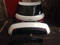 Audi A1 sport boot lid bumper rearlights