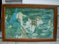LARGE LARGE Antique Print Hylas and the Nymphs date 1896