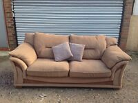 Beige two seater sofa *free delivery*