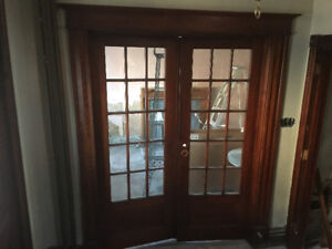 Antique French doors 100 years old !
