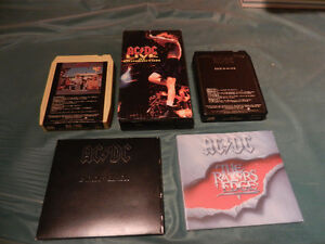 AC/DC CD,Vintage 8-Tracks,VHS Lot of 5 Collection