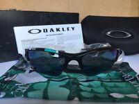 Oakley Sunglasses Flak Jacket XLJ polished Black Jade Iridium.