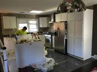 Basement Renos kitchen refinishing