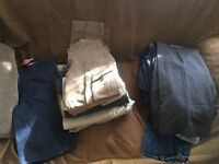 Men's assorted bundle of trousers, jeans,shorts