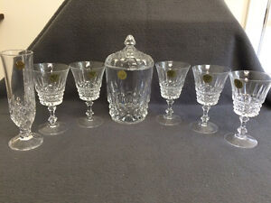 Collectible Antique Crystal Glasses, Bud Vases & Covered Dish London Ontario image 1