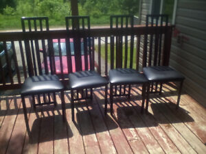 2 sets of metal kitchen chairs your choice