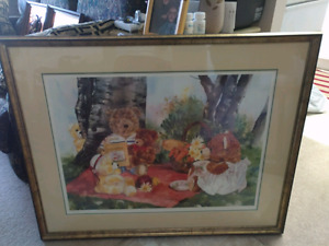 Wendy Tosoff framed, Limited signed and numberd